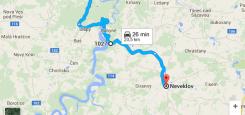 Silnice: Štěchovice – Neveklov cca 20 km Vcelku dobrý povrch Poměrně velký provoz ČASTÝ VÝSKYT MOTORKÁŘŮ! mapa:
