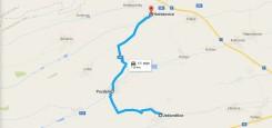 Silnice: Jedomělice – Pozdeň – Hořešovice cca 8 km Vcelku dobrý povrch Úzká silnice lesem (cca 50 %), úzká silnice krajinou s dobrým rozhledem (cca 50 %)