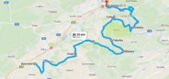 Silnice: Bavoryně – Koněprusy – Srbsko – Beroun cca 40 km Poměrně malý provoz Z velké části opravdu dobrý povrch Široká a přehledná silnice Krásné prostředí i scenérie – cesta […]