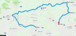 Silnice: Cvikov – Kytlice – Česká Kamenice – Nový Bor cca 40 km Tip od vás, od čtenářů – místy kvalitní, místy vcelku rozbitý povrch  mapa: